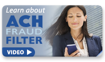 ACH Fraud Filter Training button