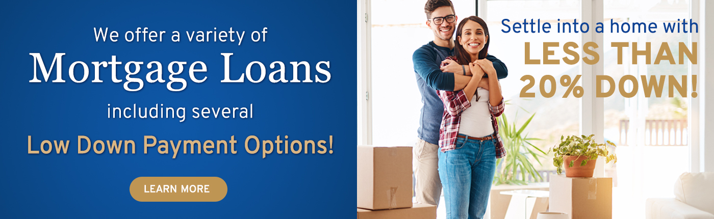 Mortgage Loans including several Low Down Payment Options