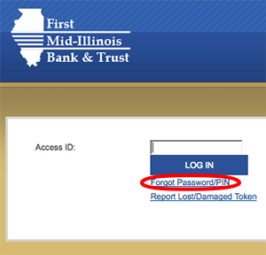 Image of Business Online Banking Login Screen