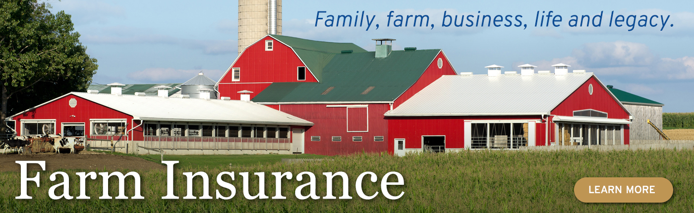 Family, farm, business, life and legacy. Learn more about farm insurance.