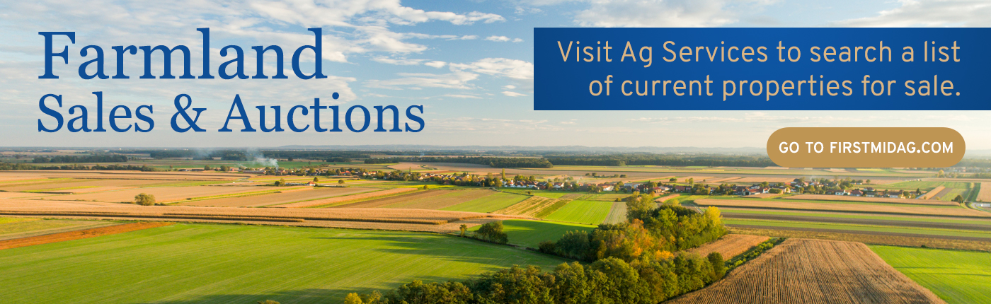 Farmland Sales & Auctions. Visit Ag Services to search a list of current properties for sale. Go to FIRSTMIDAG.COM.