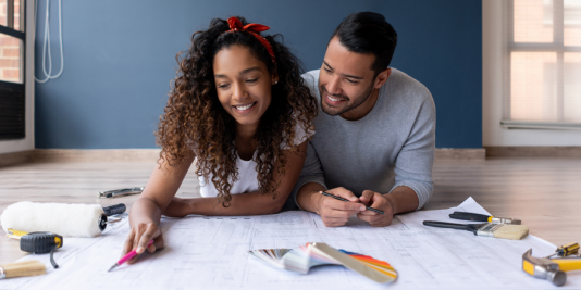 Young Couple Doing Home Renovations