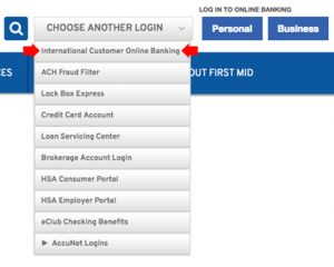International Customer - Online Banking Login