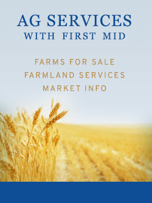 Learn more about Ag Services with First Mid, including: Farms for Sale, Farmland Services, and Market Information.